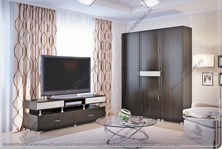 Корпусная мебель для гостинной «Бавария» - Вариант комплектации 006