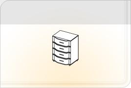 Элементы корпусной детской мебели «Мозаика» - Комод. КМ