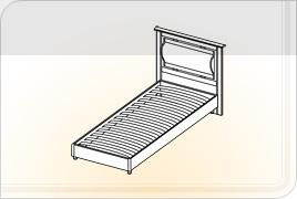 Элементы корпусной детской мебели «Мозаика» - Кровать. КР