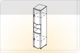 Элементы корпусной детской мебели «Мозаика» - Пенал с нишей. ПН