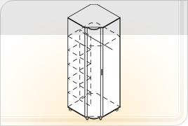 Элементы корпусной детской мебели «Мозаика» - Шкаф угловой. Ш-УГ