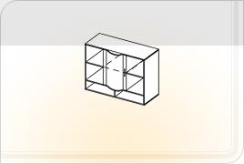 Элементы корпусной детской мебели «Мозаика» - Шкаф навесной - 1. ШН-1
