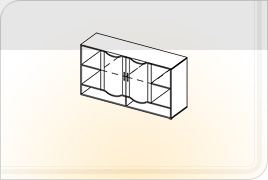 Элементы корпусной детской мебели «Мозаика» - Шкаф навесной - 1,5. ШН-1,5