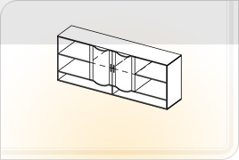 Элементы корпусной детской мебели «Мозаика» - Шкаф навесной - 2. ШН-2