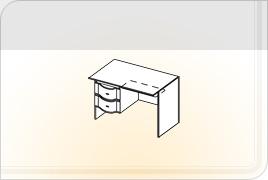 Элементы корпусной детской мебели «Мозаика» - Стол однотумбовый - 1. СТ-1
