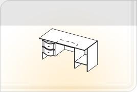 Элементы корпусной детской мебели «Мозаика» - Стол двухтумбовый - 1,5. СТ-1,5