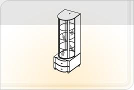 Элементы корпусной мебели для гостиной «Глория» - Бар. БР