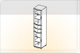 Элементы корпусной мебели для гостиной «Глория» - Пенал с ящиками. ПЯ