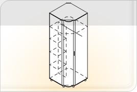 Элементы корпусной мебели для гостиной «Глория» - Шкаф угловой. Ш-УГ