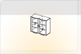 Элементы корпусной мебели для гостиной «Глория» - Шкаф навесной - 1. ШН-1