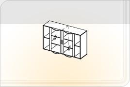 Элементы корпусной мебели для гостиной «Глория» - Шкаф навесной - 2. ШН-2
