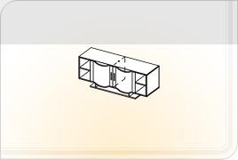 Элементы корпусной мебели для гостиной «Глория» - Шкаф навесной - 3. ШН-3
