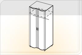 Элементы корпусной мебели для гостиной «Глория» - Шкаф универсальный. ШУ