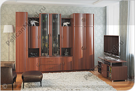 Корпусная мебель для гостиной «Магнолия» - Вариант комплектации 001