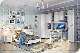 Корпусная детская мебель «Мозаика» - Вариант комплектации 002