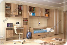 Корпусная детская мебель «Мозаика» - Вариант комплектации 003