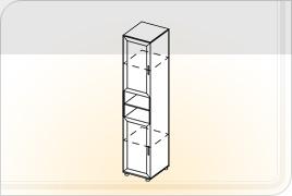 Элементы корпусной мебели для прихожей «Визит» - Пенал с нишей. ПН