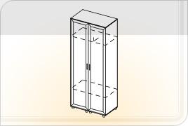 Элементы корпусной мебели для прихожей «Визит» - Шкаф. ШК