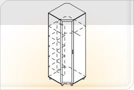 Элементы корпусной мебели для прихожей «Визит» - Шкаф угловой. Ш-УГ