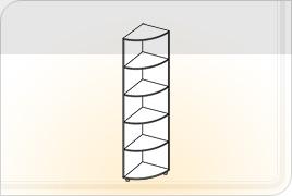 Элементы корпусной мебели для прихожей «Визит» - Угол. УГ
