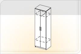 Элементы корпусной мебели для прихожей «Ника» - Шкаф 2-х створчатый. ШК