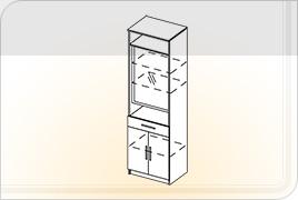 Элементы корпусной мебели для прихожей «Ника» - Шкаф с зеркалом. ШК-Z