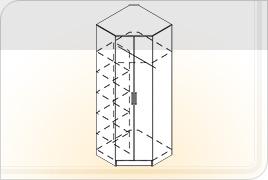 Элементы корпусной мебели для прихожей «Ника» - Шкаф угловой. Ш-УГ