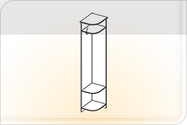 Элементы корпусной мебели для прихожей «Ника» - Вешалка угловая. В-УГ