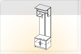 Элементы корпусной мебели для прихожей «Ника» - Вешалка. ВШ
