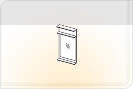 Элементы корпусной мебели для прихожей «Ника» - Зеркало. Z