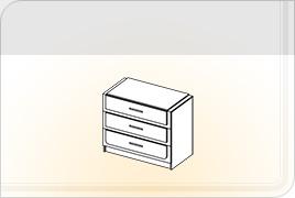 Техническая информация мебели для спальни «Соната» - Соната комод