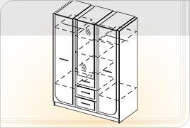 Техническая информация мебели для спальни «Соната» - Соната шкаф