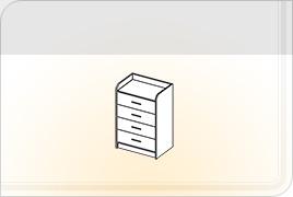 Элементы корпусной детской мебели «Забава» - Комод. КМ