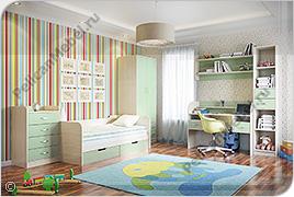 Корпусная детская мебель «Забава» - Вариант комплектации 001