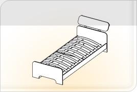 Элементы корпусной детской мебели «Забава» - Кровать. КР