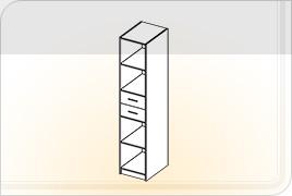 Элементы корпусной детской мебели «Забава» - Пенал с ящиками. ПЯ
