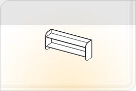 Элементы корпусной детской мебели «Забава» - Полка навесная. ПН