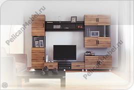 Корпусная мебель для гостинной «Глория» - Вариант комплектации 010